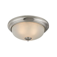 Cornerstone by Elk Signature 3 Light Flush Mount in Brushed Nickel with White Glass 7013FM/20