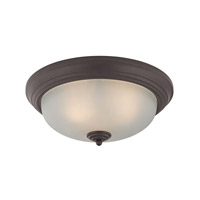 Cornerstone by Elk Signature 3 Light Flush Mount in Oil Rubbed Bronze with White Glass 7023FM/10