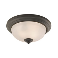 Cornerstone by Elk Huntington 2 Light Flush Mount in Oil Rubbed Bronze with White Glass 7053FM/10