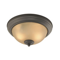 Cornerstone by Elk Easton 2 Light Flush Mount in Oil Rubbed Bronze 7102FM/10