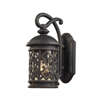 Cornerstone by Elk Tuscany Coast 1 Light Outdoor Wall Lantern in Weathered Charcoal with Clear Seeded Glass 7201EW/71
