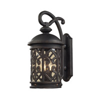 Tuscany Coast 2 Light 18 inch Weathered Charcoal Outdoor Wall Lantern