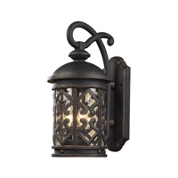 Tuscany Coast 3 Light 22 inch Weathered Charcoal Outdoor Wall Lantern