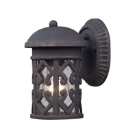 Tuscany Coast 1 Light 9 inch Weathered Charcoal Outdoor Wall Lantern