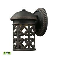 Tuscany Coast LED 9 inch Weathered Charcoal Outdoor Wall Lantern