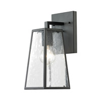 Cornerstone by Elk Mediterano 1 Light Outdoor Wall Lantern in Charcoal with Clear Seeded Glass 7601EW/73