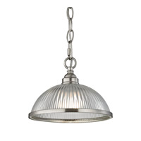 Liberty Park 1 Light 9 inch Brushed Nickel Pendant Ceiling Light