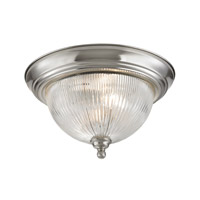 Cornerstone by Elk Liberty Park 2 Light Flush Mount in Brushed Nickel with Prismatic Clear Glass 7672FM/20