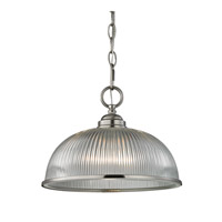 Liberty Park 1 Light 12 inch Brushed Nickel Pendant Ceiling Light