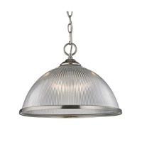 Liberty Park 1 Light 15 inch Brushed Nickel Pendant Ceiling Light
