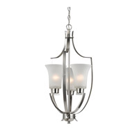 Signature 3 Light 15 inch Brushed Nickel Foyer Pendant Ceiling Light in White