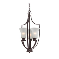 Cornerstone by Elk Signature 3 Light Foyer Pendant in Oil Rubbed Bronze with White Glass 7723FY/10