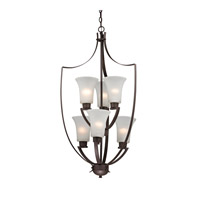 Signature 6 Light 21 inch Oil Rubbed Bronze Foyer Pendant Ceiling Light