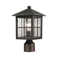 Cornerstone by Elk Shaker Heights 1 Light Outdoor Post Lantern in Hazelnut Bronze 8201EP/70