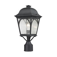 Cape Ann 1 Light 13 inch Matte Textured Black Outdoor Post Lantern