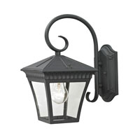 Ridgewood 1 Light 12 inch Matte Textured Black Outdoor Wall Lantern