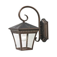Ridgewood 1 Light 12 inch Hazelnut Bronze Outdoor Wall Lantern