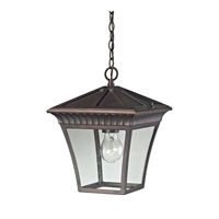 Ridgewood 1 Light 9 inch Hazelnut Bronze Outdoor Hanging Lantern