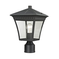 Ridgewood 1 Light 15 inch Matte Textured Black Outdoor Post Lantern
