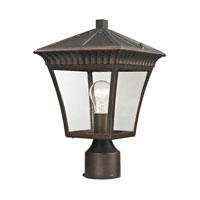 Ridgewood 1 Light 15 inch Hazelnut Bronze Outdoor Post Lantern