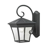 Ridgewood 1 Light 15 inch Matte Textured Black Outdoor Wall Lantern
