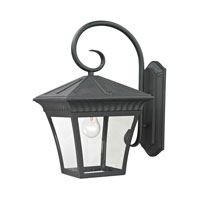 Ridgewood 1 Light 18 inch Matte Textured Black Outdoor Wall Lantern