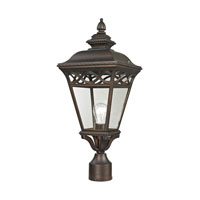 Mendham 1 Light 22 inch Hazelnut Bronze Outdoor Post Lantern