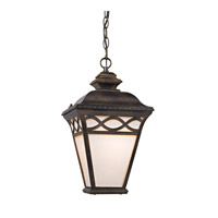 Cornerstone by Elk Mendham 1 Light Outdoor Hanging Lantern in Hazelnut Bronze with White Translucent Glass 8561EH/70