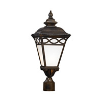 Cornerstone by Elk Mendham 1 Light Post Lantern in Hazelnut Bronze with White Translucent Glass 8561EP/70