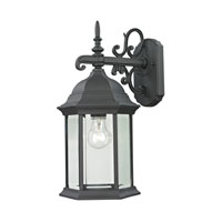 Cornerstone by Elk Spring Lake 1 Light Outdoor Wall Lantern in Matte Textured Black 8601EW/65