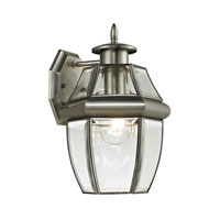 Ashford 1 Light 12 inch Antique Nickel Outdoor Wall Lantern