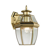 Ashford 1 Light 12 inch Antique Brass Outdoor Wall Lantern