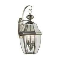 Ashford 2 Light 21 inch Antique Nickel Outdoor Wall Lantern