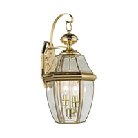 Ashford 2 Light 21 inch Antique Brass Outdoor Wall Lantern