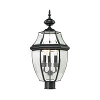 Ashford 3 Light 23 inch Black Outdoor Post Lantern