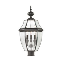 Ashford 3 Light 23 inch Oil Rubbed Bronze Outdoor Post Lantern