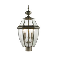 Ashford 3 Light 23 inch Antique Nickel Outdoor Post Lantern