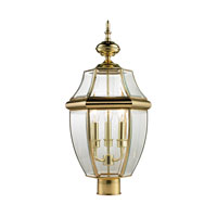 Ashford 3 Light 23 inch Antique Brass Outdoor Post Lantern