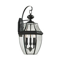 Ashford 3 Light 23 inch Black Outdoor Wall Lantern