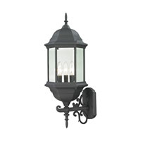Cornerstone by Elk Spring Lake 3 Light Outdoor Wall Lantern in Matte Textured Black 8603EW/65
