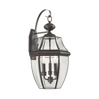 Ashford 3 Light 23 inch Oil Rubbed Bronze Outdoor Wall Lantern