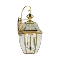 Ashford 3 Light 23 inch Antique Brass Outdoor Wall Lantern