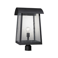 Cornerstone by Elk Prince Street 1 Light Post Lantern in Matte Black with Clear Seeded Glass 8721EP/65