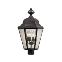 Cornerstone by Elk Cotswold 4 Light Post Lantern in Oil Rubbed Bronze with Seeded Glass 8903EP/75