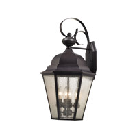 Cornerstone by Elk Cotswold 4 Light Outdoor Wall Lantern in Oil Rubbed Bronze with Seeded Glass 8903EW/75