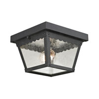 Cornerstone by Elk Springfield 2 Light Outdoor Ceiling in Matte Textured Black 9102EF/65