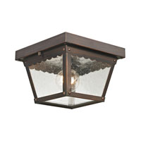 Springfield 2 Light 8 inch Hazelnut Bronze Outdoor Ceiling