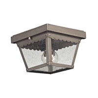 Springfield 2 Light 8 inch Dark Pewter Outdoor Ceiling