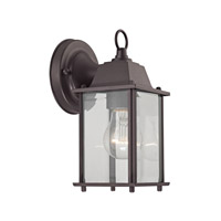 Cornerstone by Elk Signature 1 Light Outdoor Wall Lantern in Oil Rubbed Bronze with clear Glass 9231EW/75