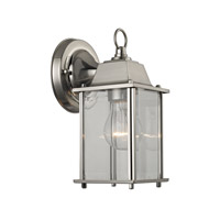 Signature 1 Light 5 inch Brushed Nickel Outdoor Wall Lantern